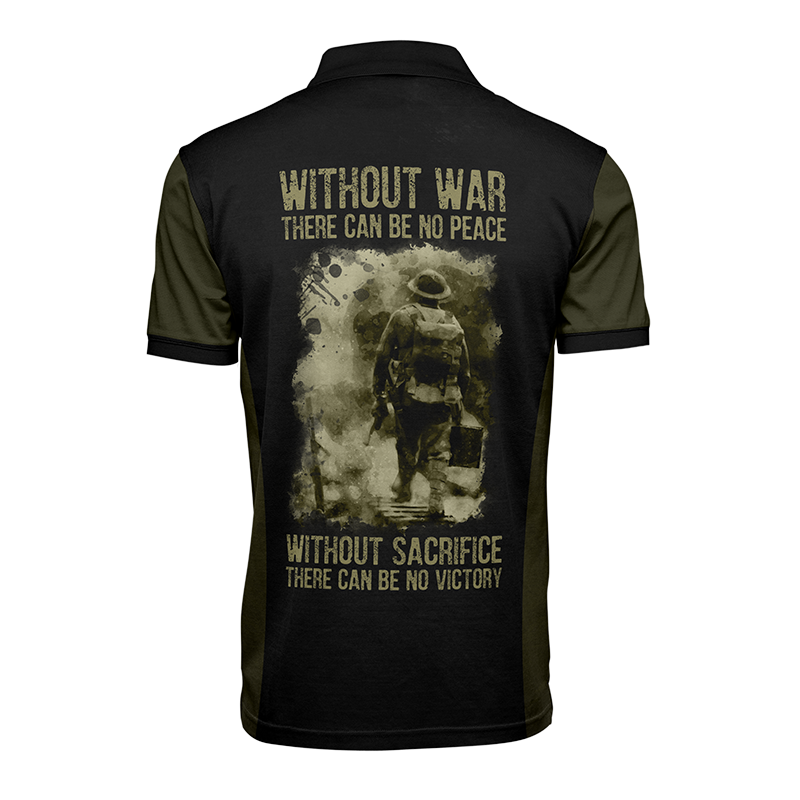 The salute to heroes tee, Back view