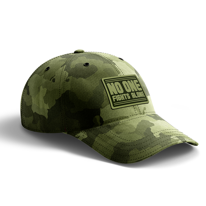 NOFA camo cap, Sideways view