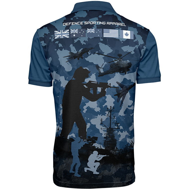 Air Force Tribute to Heroes Polo Shirt Back View