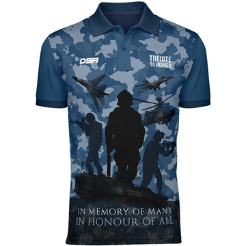 Air Force Tribute to Heroes Polo Shirt Front View