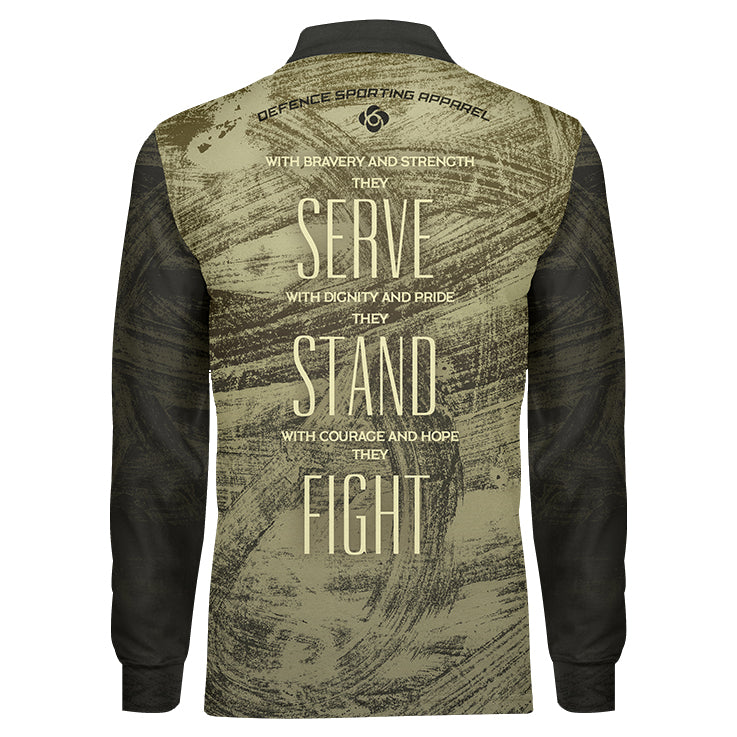 Never Forget Camo Long Sleeve, Back View