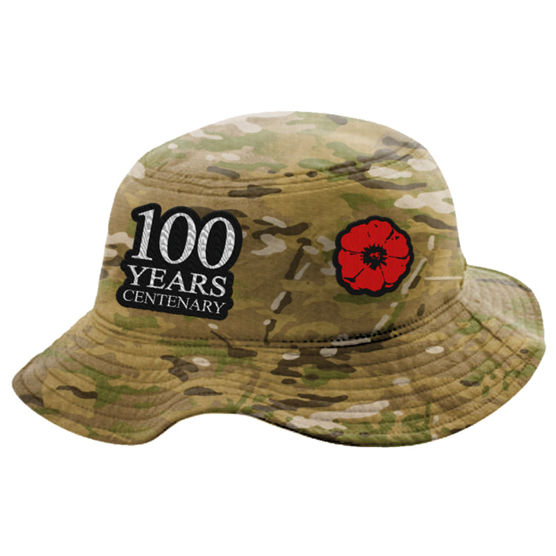The Spirit Lives On Centenary Camo Bucket Hat - LIMITED