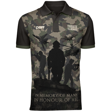 Army Tribute to Heroes Polo Shirt Front View