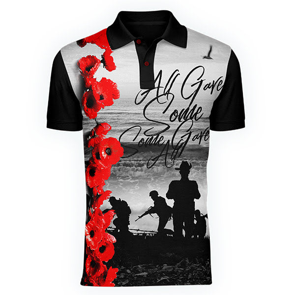 All Gave Some, Some Gave All polo, Front view