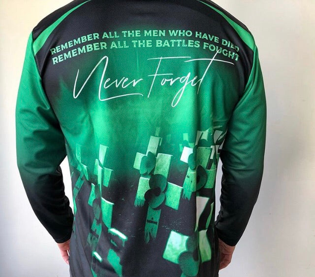 Never Forget Green Long Sleeve - LIMITED