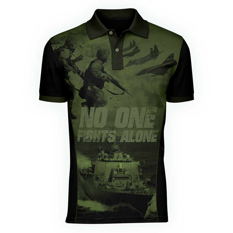 NOFA men's polo, Front view