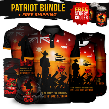 Remember Sunset Patriot Bundle + FREE Stubby Cooler + FREE Shipping