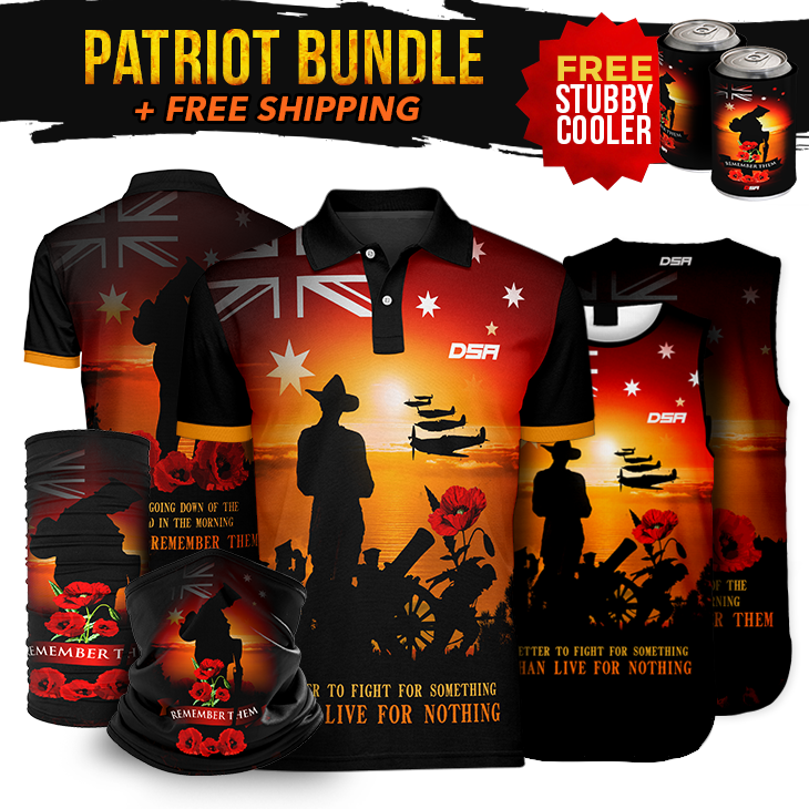 Remember Sunset Patriot Bundle + FREE Stubby Cooler & Face Mask