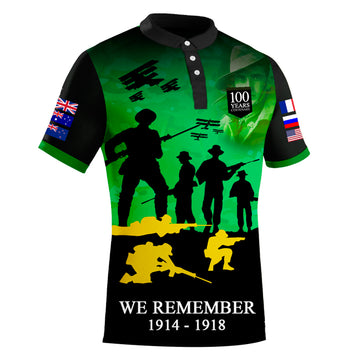 The Spirit Lives On Centenary Green Polo - LIMITED