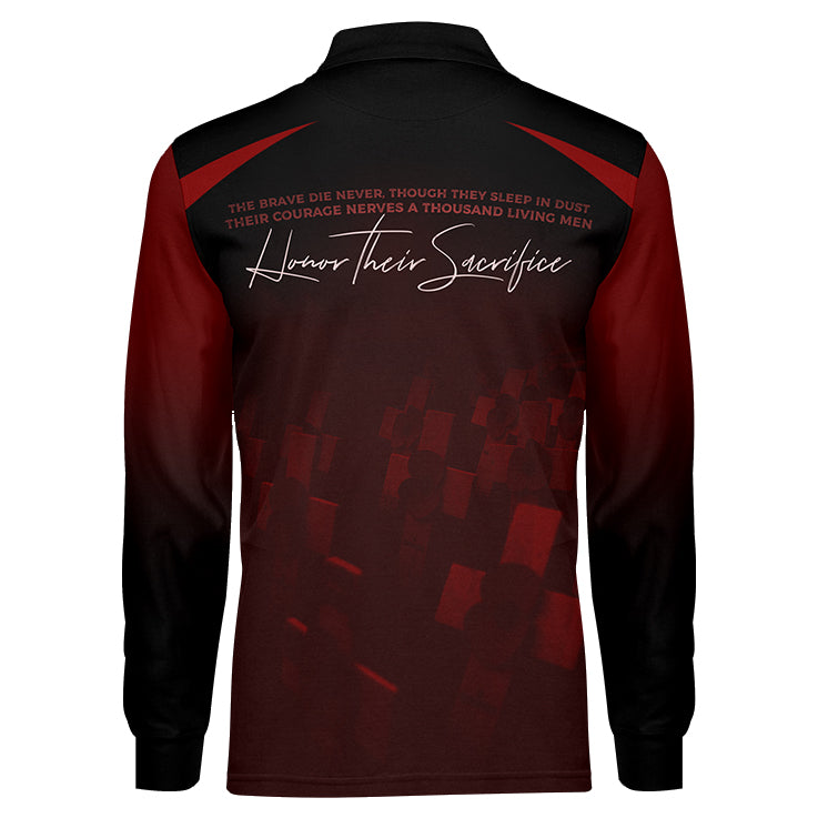 Never Forget Red Long Sleeve, Back View