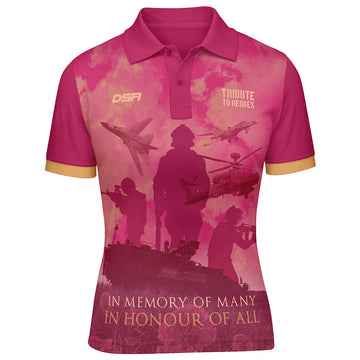 Tango Ladies Tribute to Heroes Polo Shirt Front View