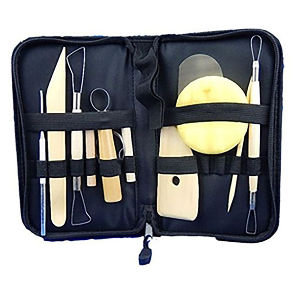 Pottery Tool Set 10pc with Carry Bag
