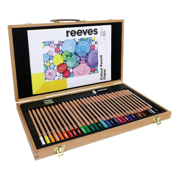 Reeves Wooden Box Colour Pencil Set