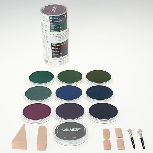 PanPastel 10 Colour Set - Extra Dark Shades Cool