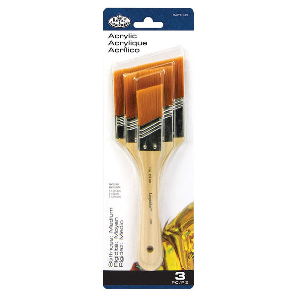 ROYAL LANG NICKEL ANGULAR BRUSH SET - GOLD TAKLON