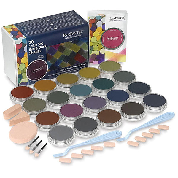 PanPastel 20 Colour Set - Extra Dark Shades