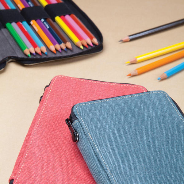 Global Art Canvas Pencil Case - 24 Pencil Capacity