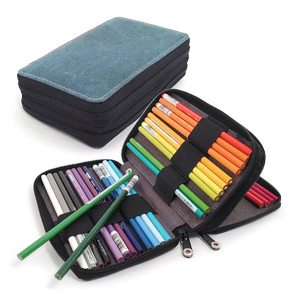Global Art Canvas Pencil Case - 48 Pencil Capacity