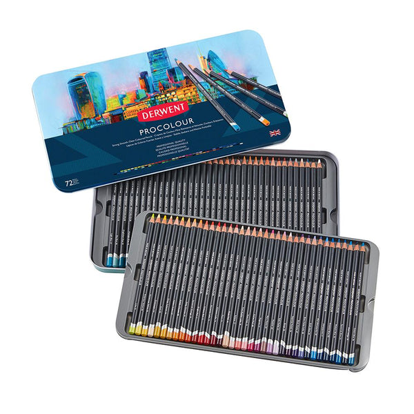 Derwent Procolour Pencils (Available in 12, 24, 36 & 72 tins)