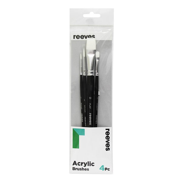 Reeves Acrylic Brush Sets - 4 Set