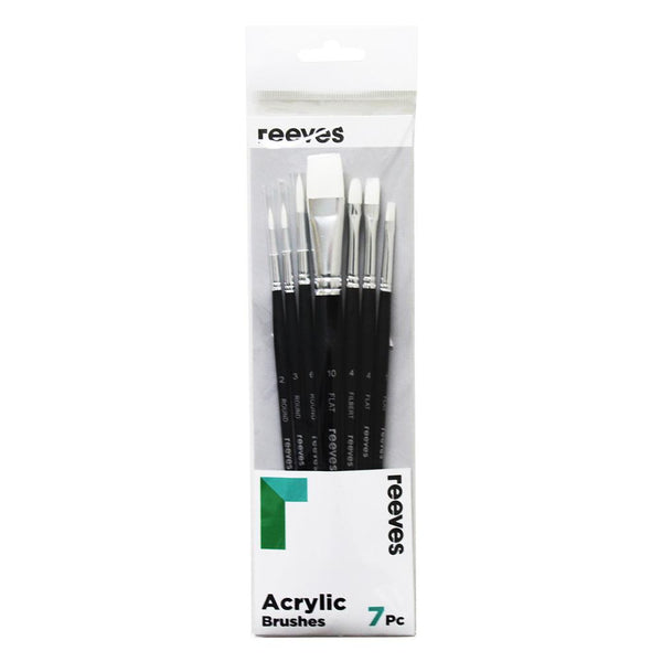 Reeves Acrylic Brush Sets - 7 Set