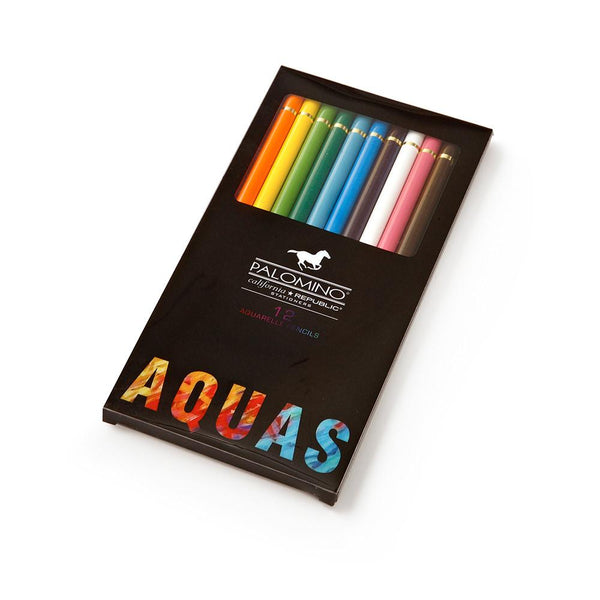 PALOMINO SET OF 12 WATERCOLOUR (AQUAS) PENCILS