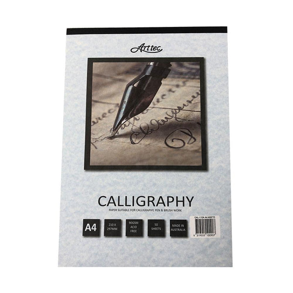 Arttec Calligraphy Pad - Assorted A4