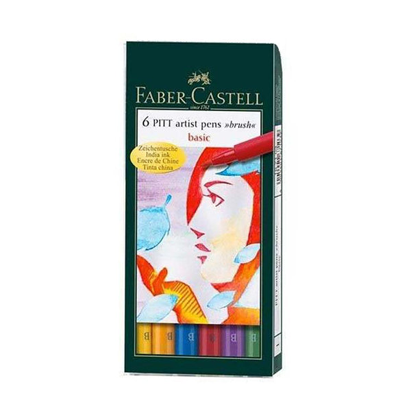 Faber-Castell Pitt Artist Pens Basic Set of 6