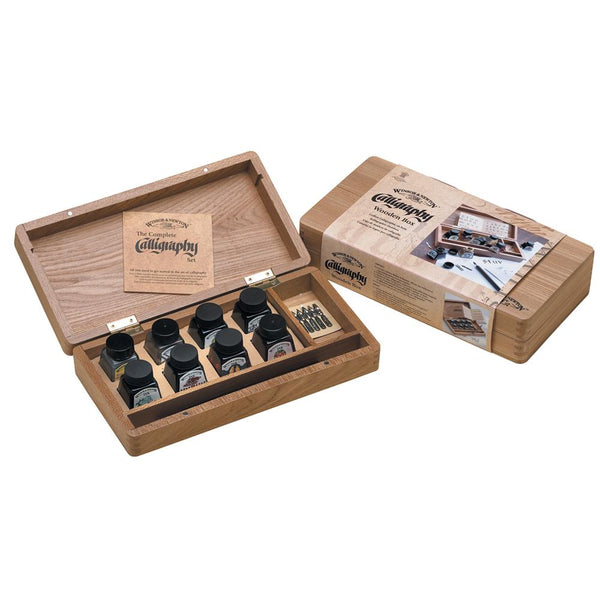 Winsor & Newton Calligraphy Wooden Box Set