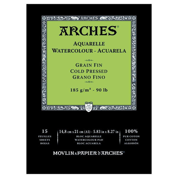 Arches Water Colour Pads - Cold Pressed 185gsm