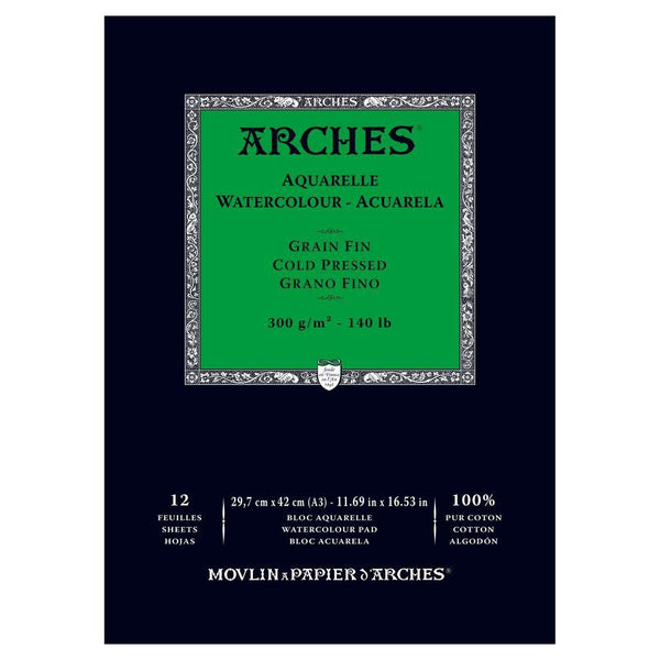 Arches Water Colour Pads - Cold Pressed 300gsm