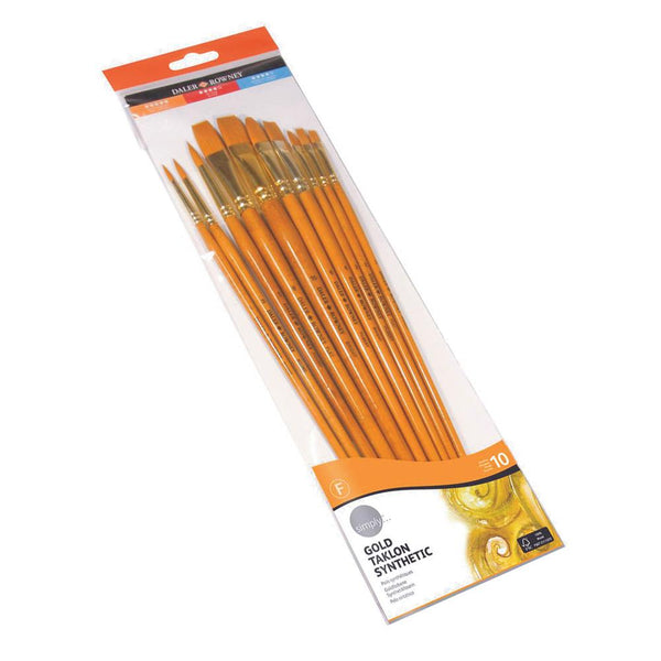 SIMPLY BRUSH - GOLD TAKLON SET