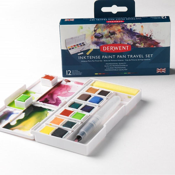 Derwent Inktense Paint Pan Travel Set Palette