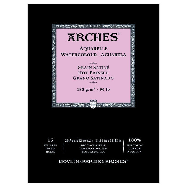 Arches Water Colour Pads - Hot Pressed 185gsm
