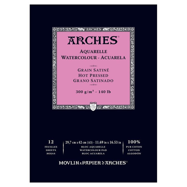 Arches Water Colour Pads - Hot Pressed 300gsm