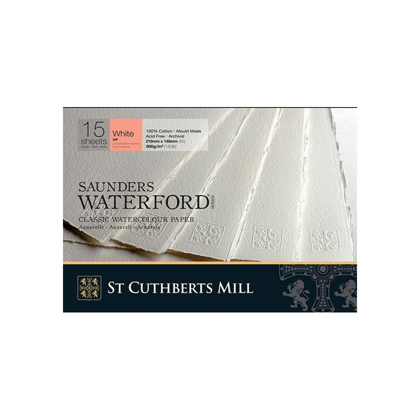 Saunders Waterford Water Colour Pads - Hot Pressed 300gsm