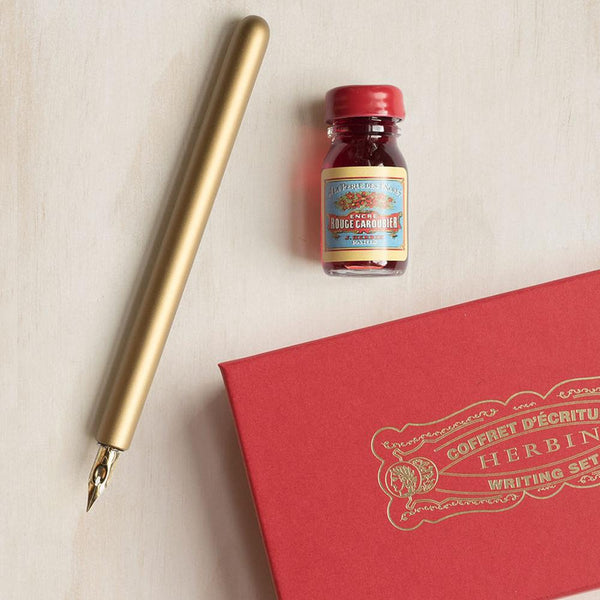 J. HERBIN - WRITING SET - ROUGE CAROUBIER