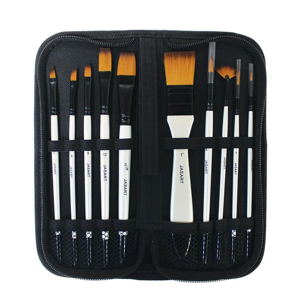 Jasart Pearl Brush Short Handle Set