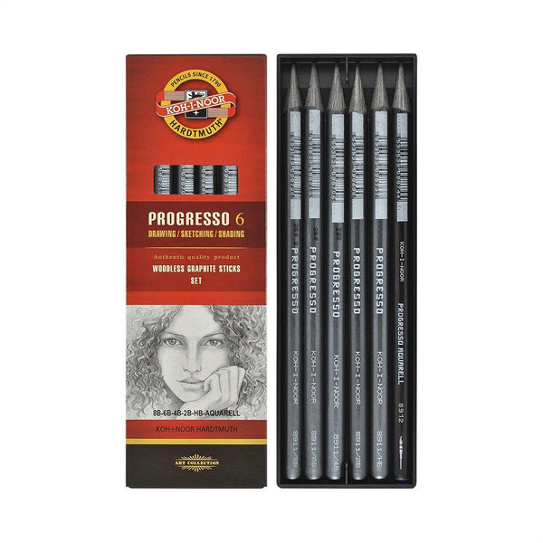 Koh-I-Noor Progresso Graphite Set 6