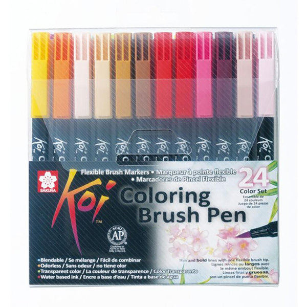 Koi Colouring Brush Pen - 24 Set