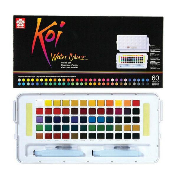 Koi Water Colour Studio Set  - 60 Set