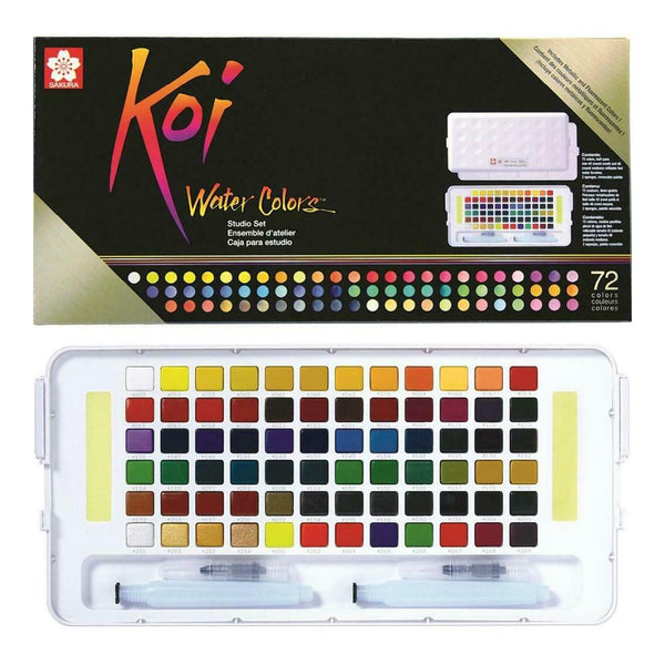 Koi Water Colour Studio Set  - 72 Set