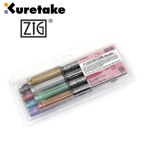 Zig Fudebiyori Metallic 8 Colour Set