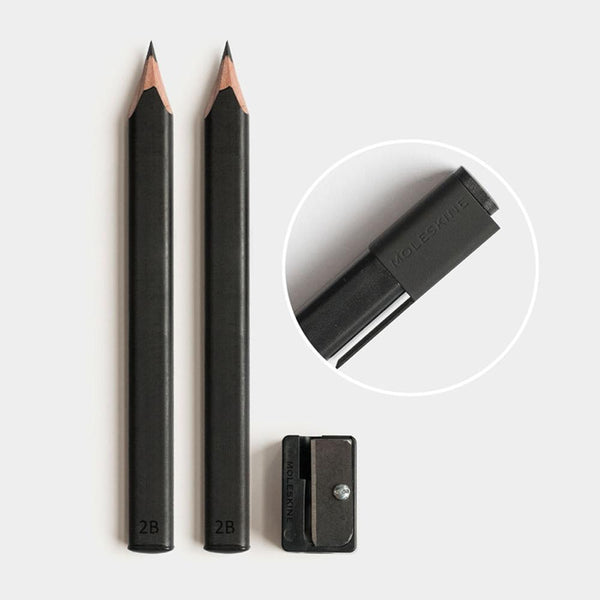 MOLESKINE - BLACK PENCILS AND SHARPENER SET