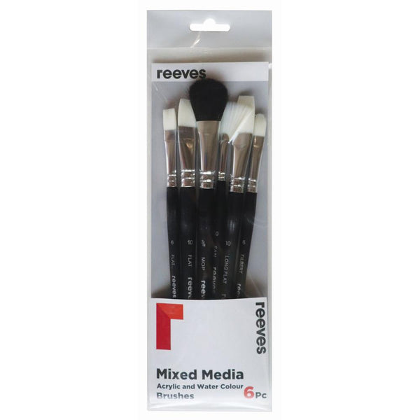 Reeves Mixed Media Brush Sets - 6 Set