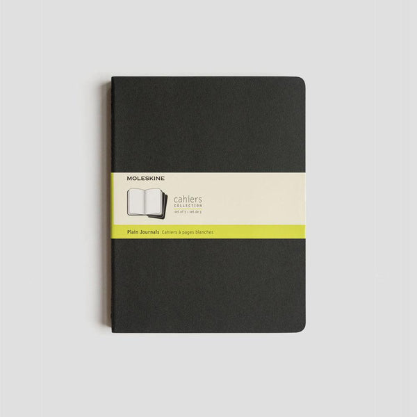MOLESKINE - PLAIN JOURNALS - SET OF 3 - PLAIN - BLACK (POCKET, LARGE & EXTRA LARGE)