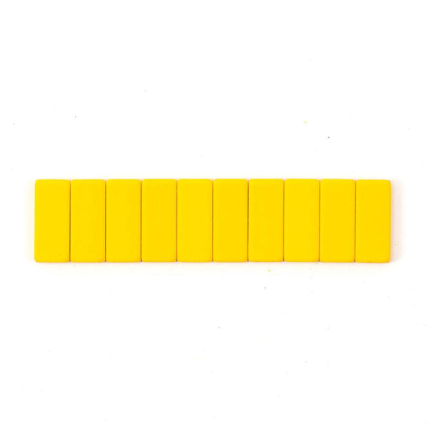 BLACKWING - PENCIL REPLACEMENT ERASERS - PACK OF 10 - YELLOW