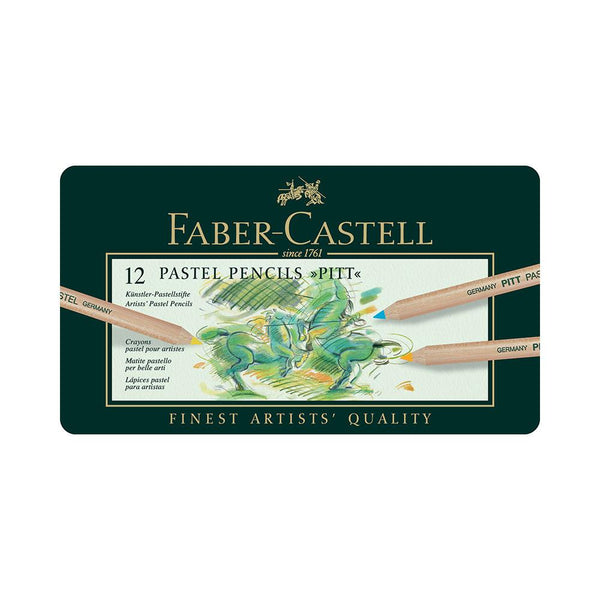 Faber-Castell Pitt Pastel Pencils - 12 Set