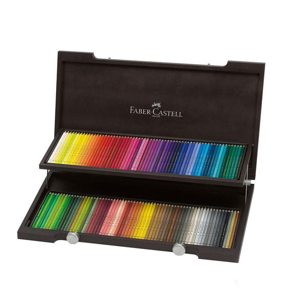 Faber-Castell Polychromos Artists' Colour Pencils - Wooden Case of 120