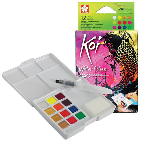 KOI CREATIVE ART WATERCOLOUR - 12 SET
